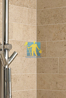 limestone tiles shower moleanos beige Brisbane cleaning
