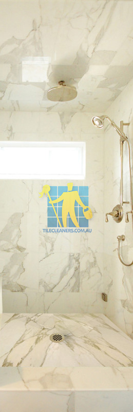 marble tiles shower wall floor calcutta polished luxury bathroom Sandgate