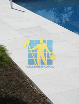 outdoor sandstone tile pool paving snow white Hendra