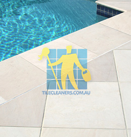 outdoor sandstone tile pool snow white Hendra