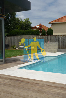 outdoor sandstone tiles pool coping snow white Hendra